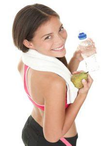 mujer deportista El agua y el deporte