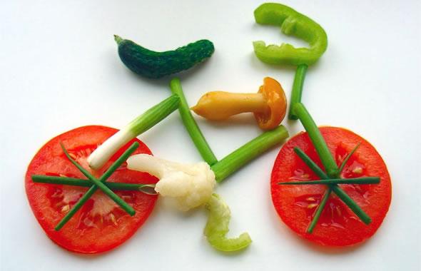 frutas y verduras en la dieta vegana