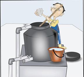obtención agua de aljibe