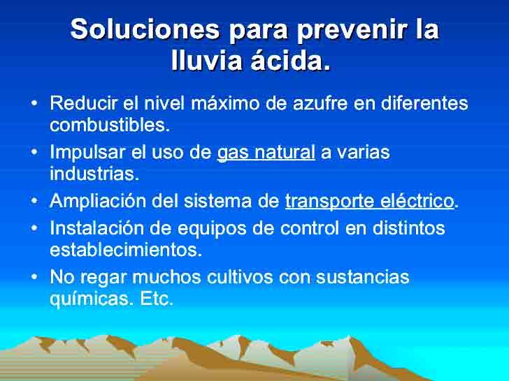 prevenir lluvia acida