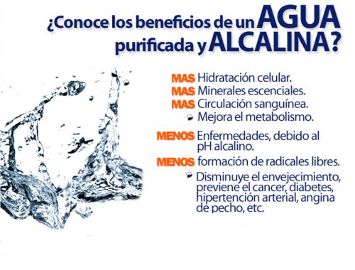 ¿Es buena el agua alcalina?