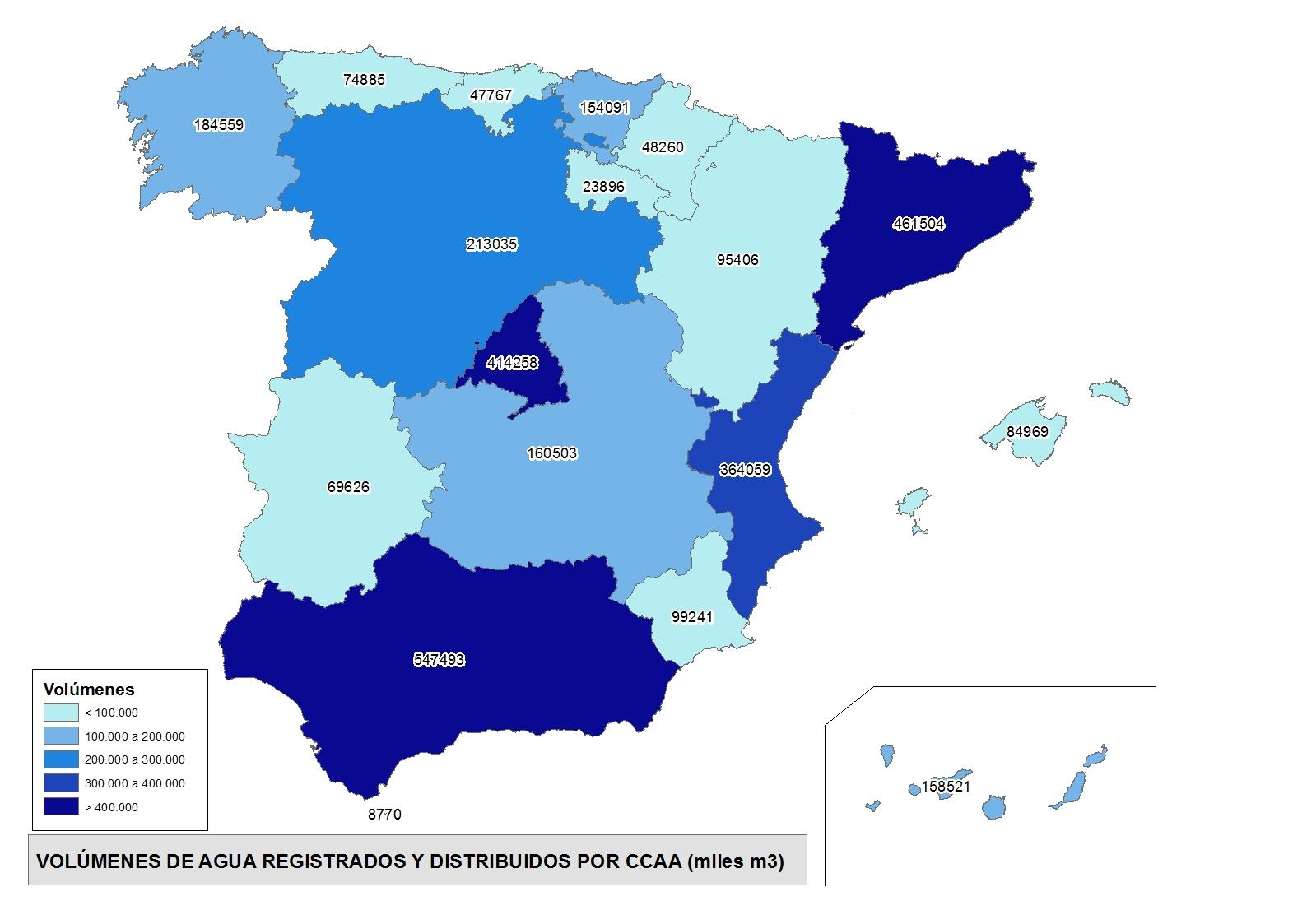 Cuánta agua se consume en España